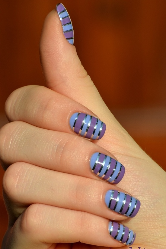 30 striped nail designs and looks to try with polish 10 prinsesfo Image collections