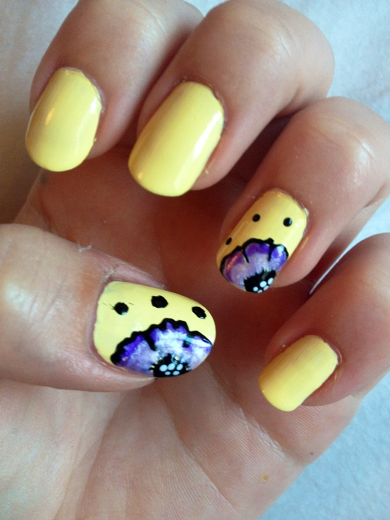 30 flower nail art designs for inspiration with tutorial 13 prinsesfo Image collections