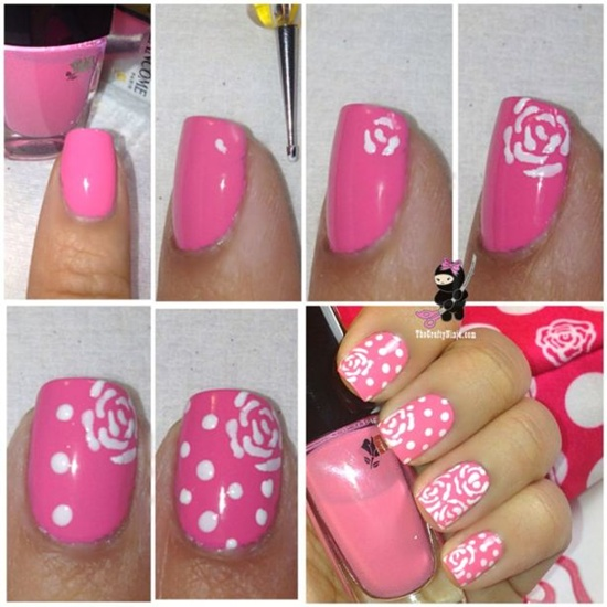 30 flower nail art designs for inspiration with tutorial 19 prinsesfo Choice Image