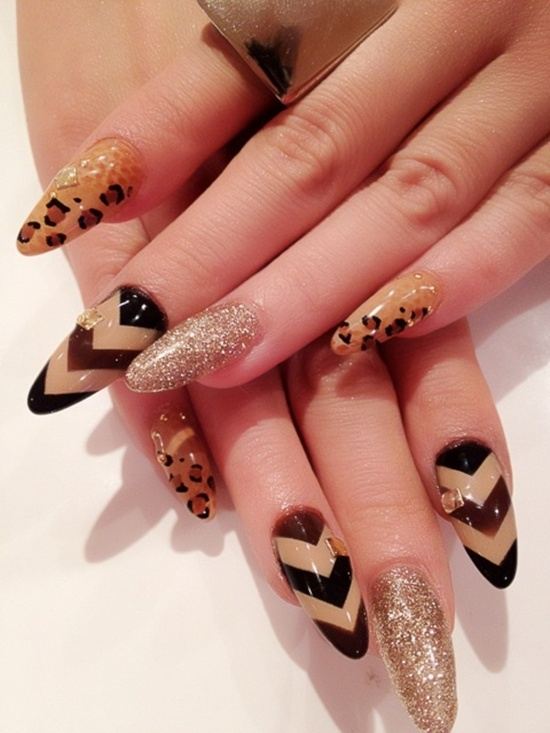 2 - 30 Cool Leopard Nail Art Designs To Try