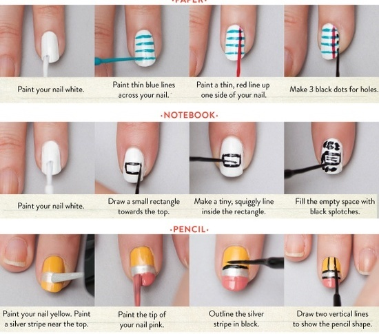 30 striped nail designs and looks to try with 23 prinsesfo Choice Image
