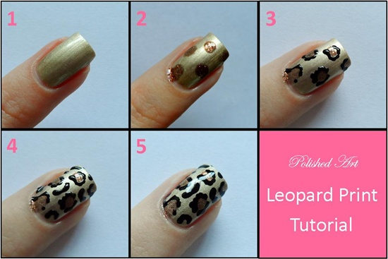 30 cool leopard nail art designs to try you will find that as you work on your nails to create the very desirable neon look of the 80s each of your nail will look different from the other prinsesfo Choice Image