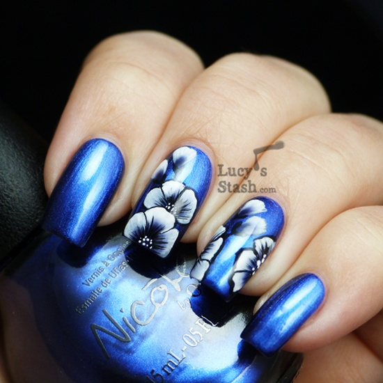 Flower Nail Art: 30 Flower Nail Art Designs For Inspiration: With Tutorial