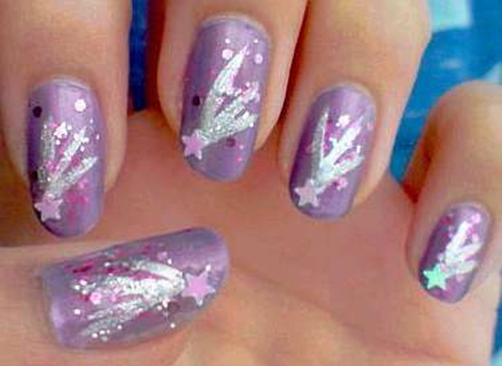 ... 8 ... - 25 Shooting Stars Nail Art Ideas