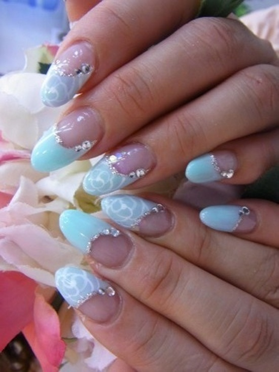 40 blue nail art ideas blue nail art 1 prinsesfo Gallery