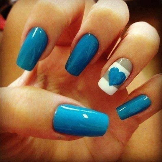 40 blue nail art ideas blue nail art 11 prinsesfo Gallery
