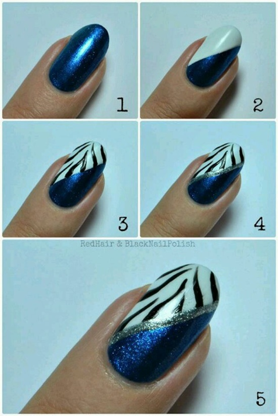 40 blue nail art ideas blue nail art 15 prinsesfo Choice Image
