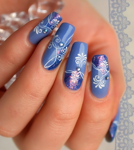 40 blue nail art ideas blue nail art 2 prinsesfo Gallery