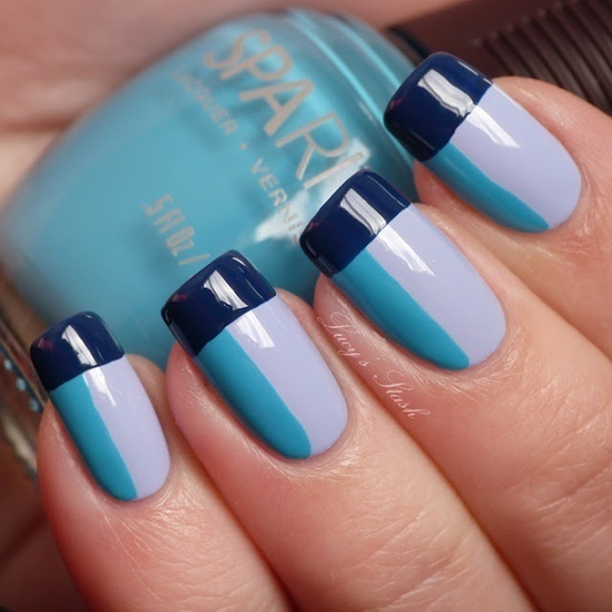 40 blue nail art ideas blue nail art 30 prinsesfo Gallery