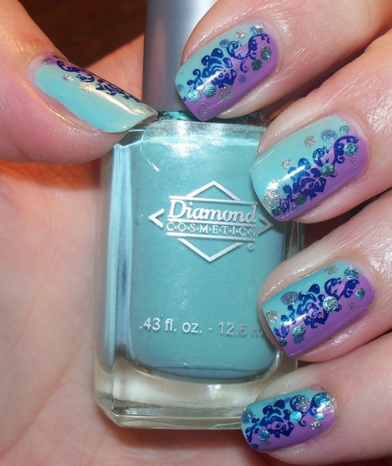 40 blue nail art ideas blue nail art 6 prinsesfo Choice Image