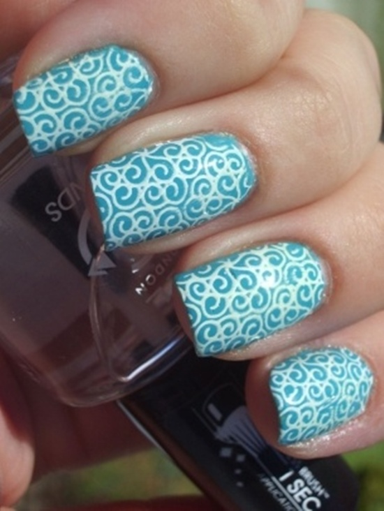 40 blue nail art ideas blue nail art 8 prinsesfo Choice Image