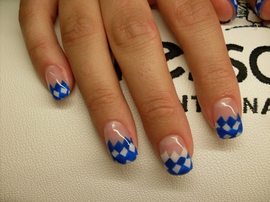 40 blue nail art ideas after painting all your nails blue you can stick on blue caviar on alternative nails to create a new and different look prinsesfo Images