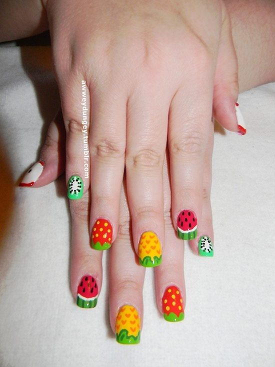 30 tasty fruit nail art designs fruit nail art 2 prinsesfo Images