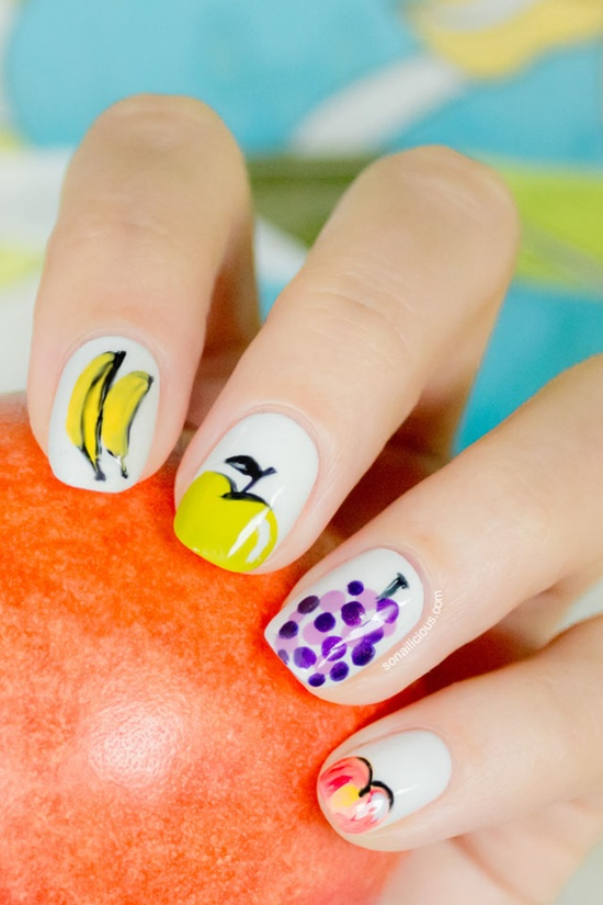 30 tasty fruit nail art designs fruit nail art 28 prinsesfo Images