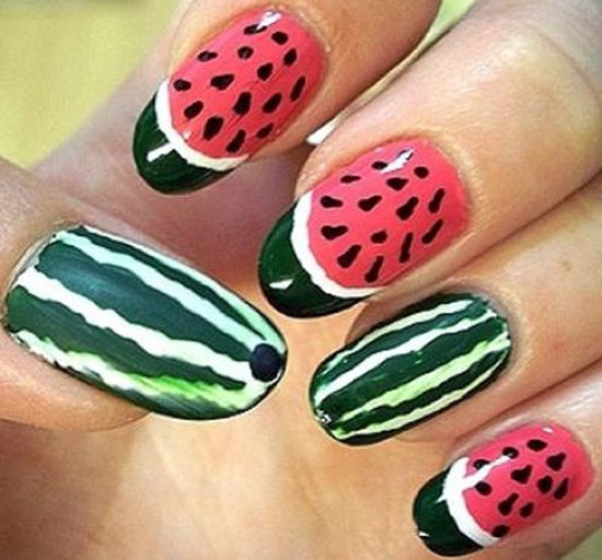 30 tasty fruit nail art designs fruit nail art 4 prinsesfo Image collections