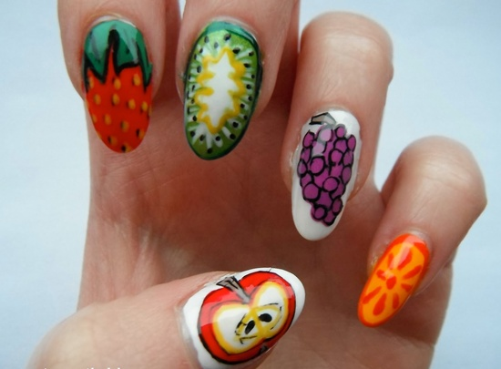30 tasty fruit nail art designs fruit nail art prinsesfo Image collections