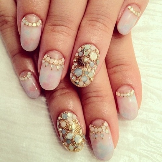 Seashell Nail Art Designs