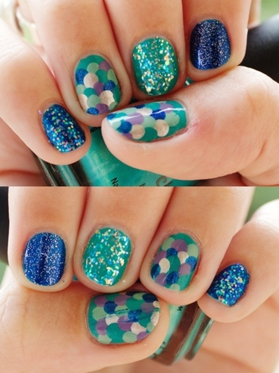 30 classic mermaid nail art ideas mermaid nail art 3 prinsesfo Choice Image