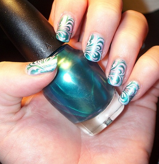mermaid nail art (9) - 30 Classic Mermaid Nail Art Ideas
