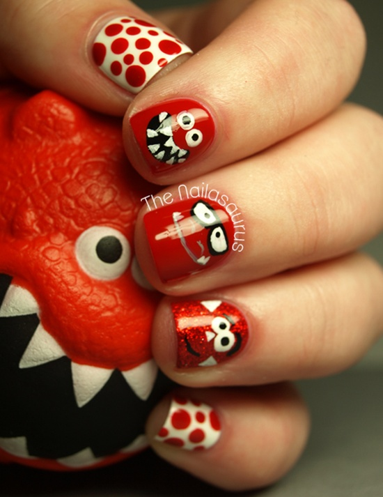 40 classic red nail art designs red nail art 19 olympus digital camera prinsesfo Images