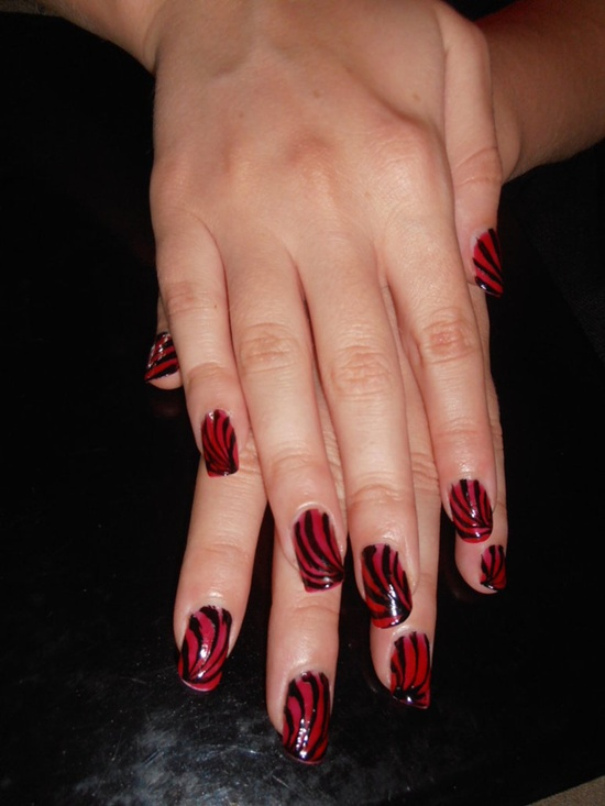 40 classic red nail art designs red nail art 23 prinsesfo Images