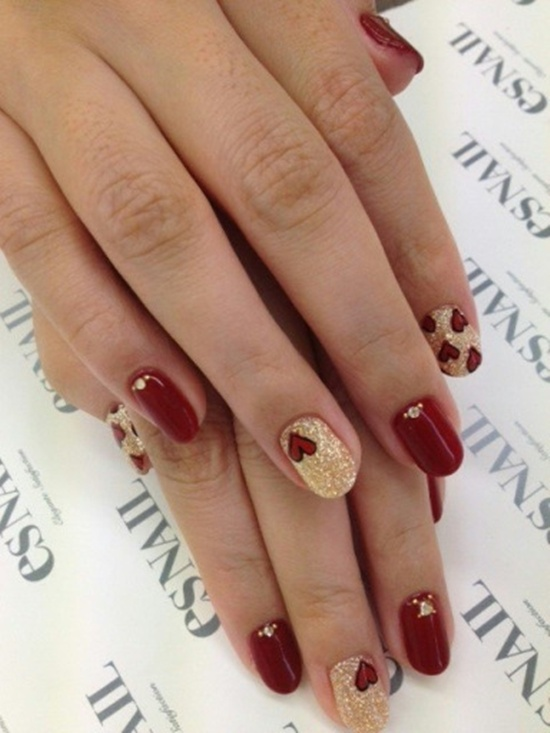 40 classic red nail art designs red nail art 25 prinsesfo Image collections