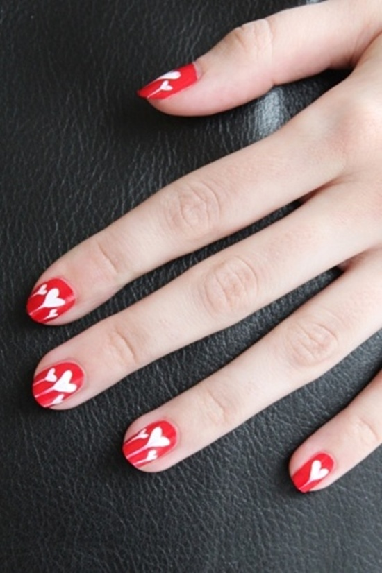 40 classic red nail art designs red nail art 26 prinsesfo Gallery