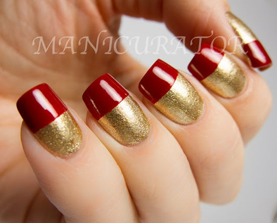 40 classic red nail art designs red nail art 30 prinsesfo Choice Image