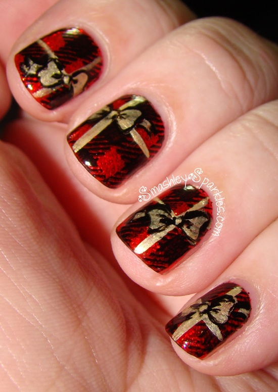 40 classic red nail art designs red nail art 31 prinsesfo Image collections