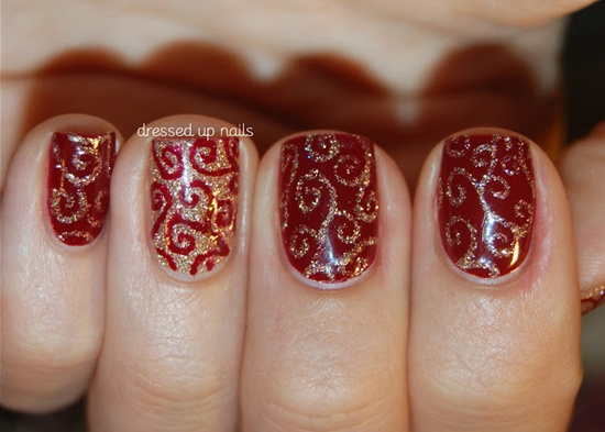 40 classic red nail art designs red nail art 33 prinsesfo Image collections