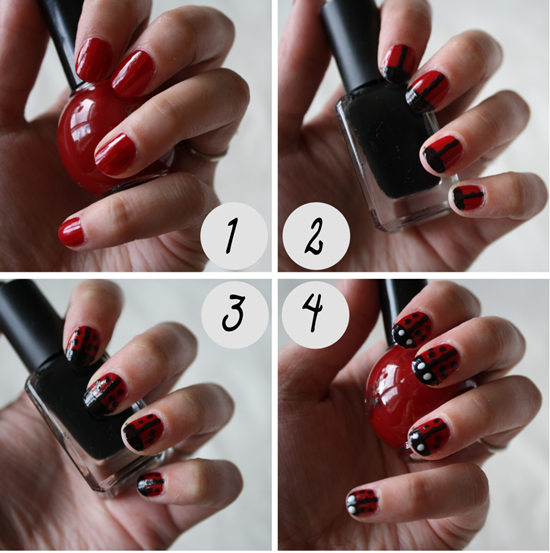 40 classic red nail art designs red nail art 36 prinsesfo Images