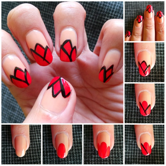 40 classic red nail art designs red nail art 4 prinsesfo Images
