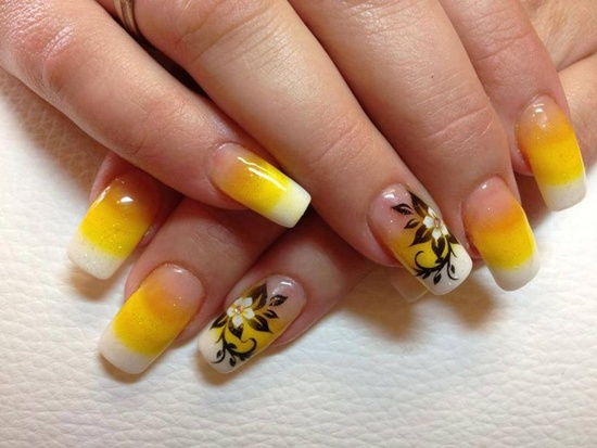 40 yellow nail art ideas to try on yellow nail art 10 prinsesfo Image collections
