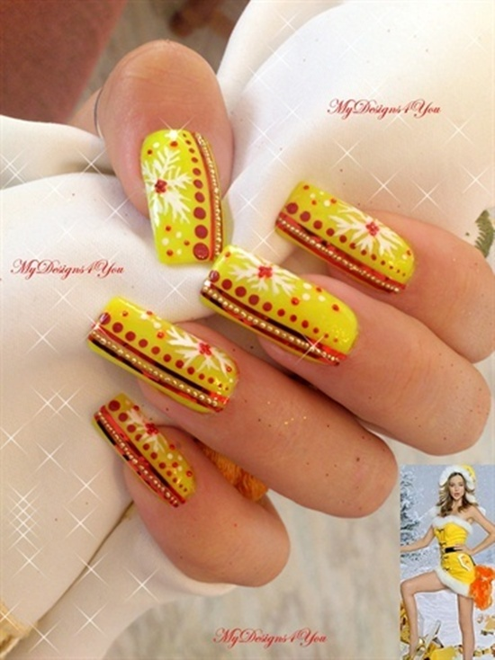 40 yellow nail art ideas to try on yellow nail art 12 prinsesfo Image collections