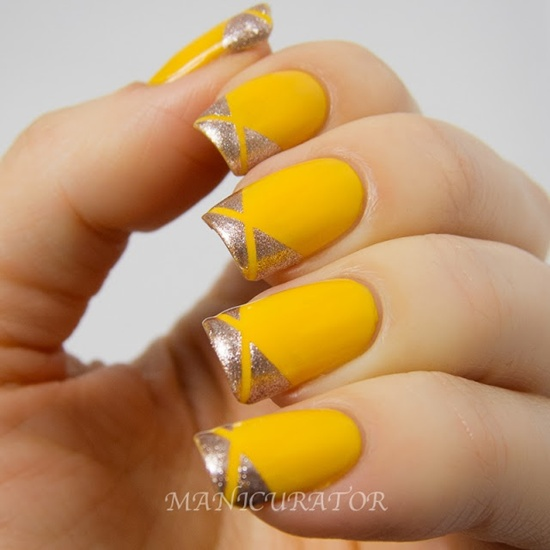 40 yellow nail art ideas to try on yellow nail art 2 prinsesfo Choice Image