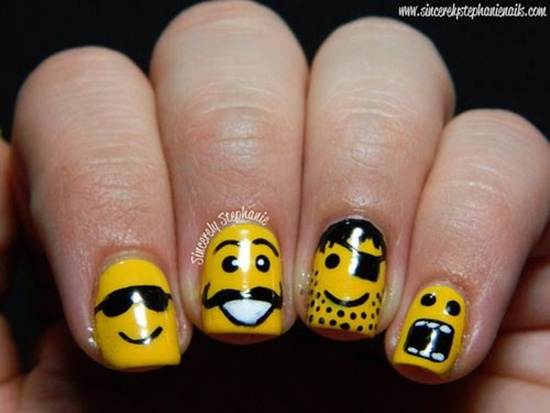 yellow nail art (30) - 40 Yellow Nail Art Ideas To Try On