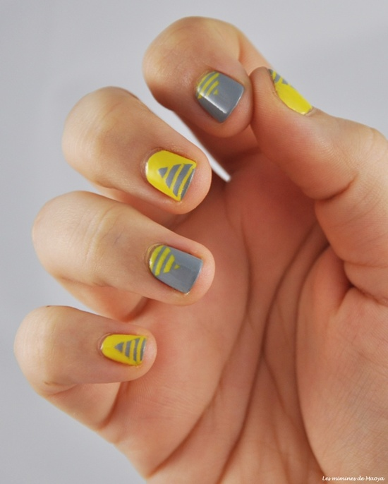 40 yellow nail art ideas to try on yellow nail art 31 prinsesfo Image collections