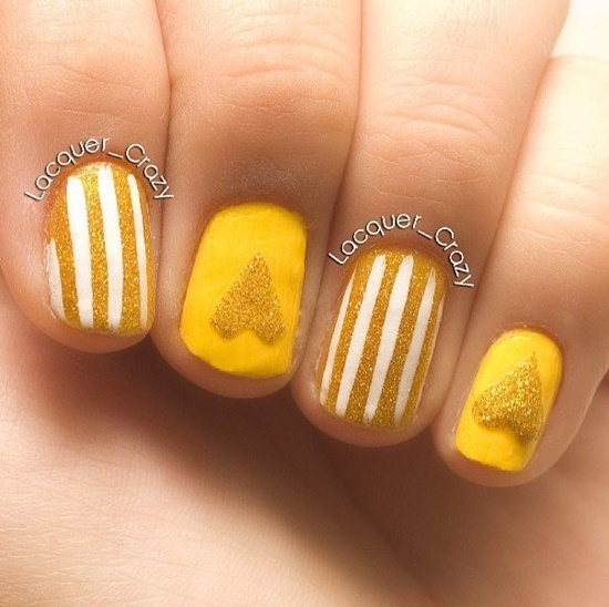 40 yellow nail art ideas to try on yellow nail art 39 prinsesfo Image collections