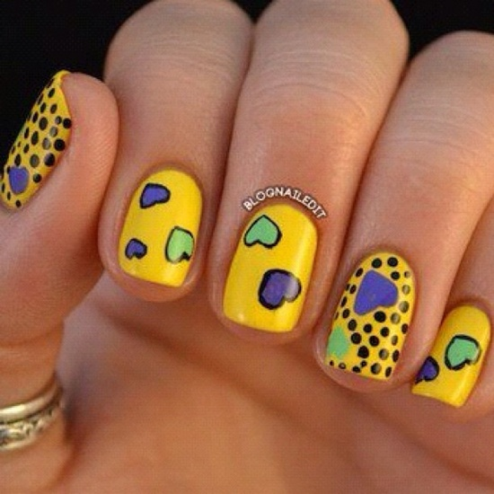 40 yellow nail art ideas to try on yellow nail art 5 prinsesfo Image collections