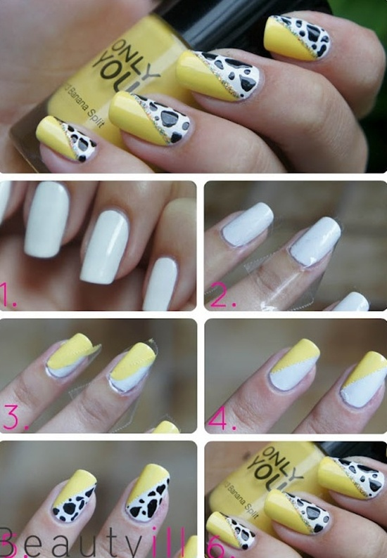 yellow nail art (8) - 40 Yellow Nail Art Ideas To Try On