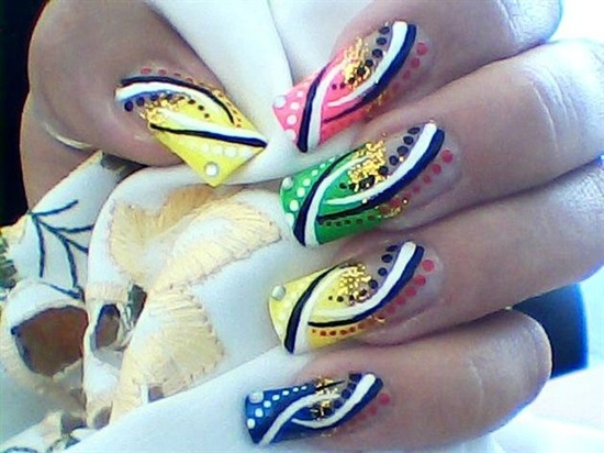 abstract nail art (14) - 30 Designs For Abstract Nail Art