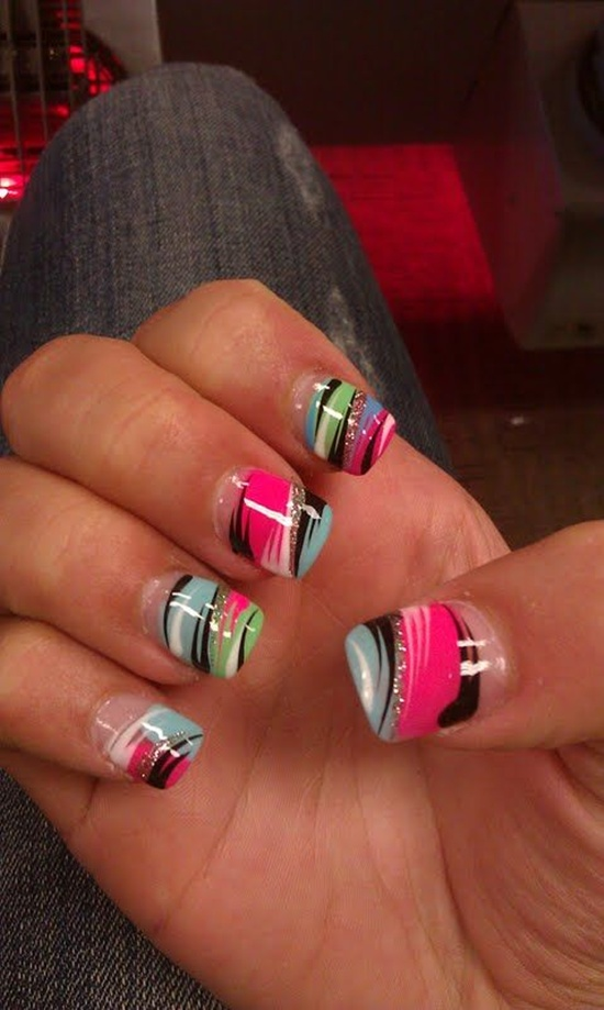 abstract nail art (15) - 30 Designs For Abstract Nail Art