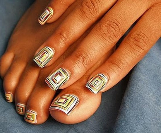 abstract nail art (20) - 30 Designs For Abstract Nail Art