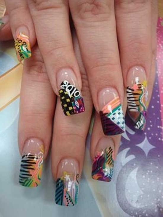abstract nail art (21) - 30 Designs For Abstract Nail Art