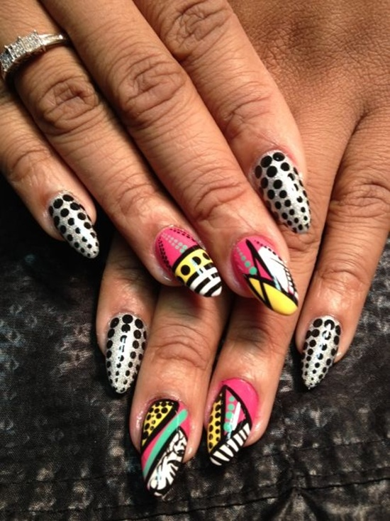 abstract nail art (27) - 30 Designs For Abstract Nail Art