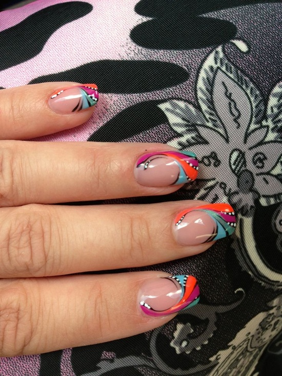 30 designs for abstract nail art abstract nail art 29 prinsesfo Image collections
