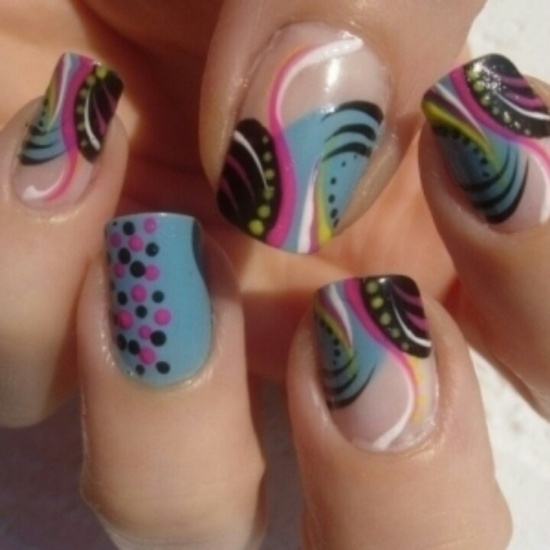 abstract nail art (7) - 30 Designs For Abstract Nail Art