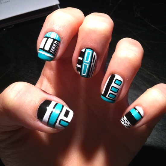 30 designs for abstract nail art abstract nail art 9 prinsesfo Images