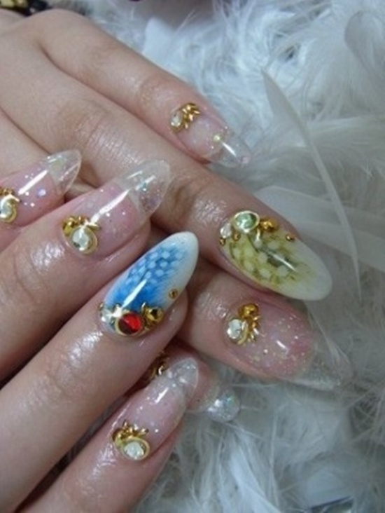 20 photos of acrylic nails to enhance manicure creativity acrylic nail art 12 prinsesfo Choice Image