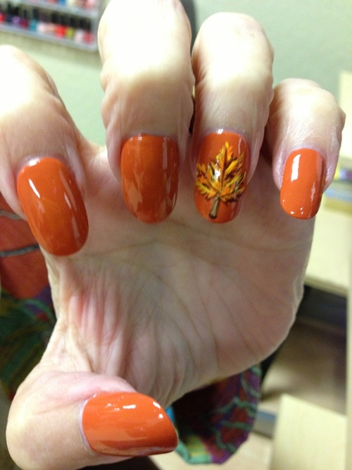 How to do autumn leaves nail art 30 examples autumn nail art 11 prinsesfo Image collections